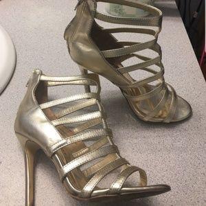 Audrey Brooke gold heels